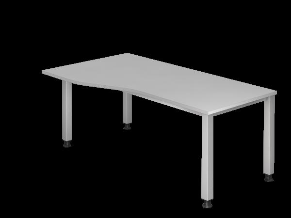Schreibtisch 4-Fuß eckig 180 x 100/80 cm
