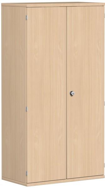Garderobenschrank mit ausziehbarem Garderobenhalter, 80x42x154cm, Buche