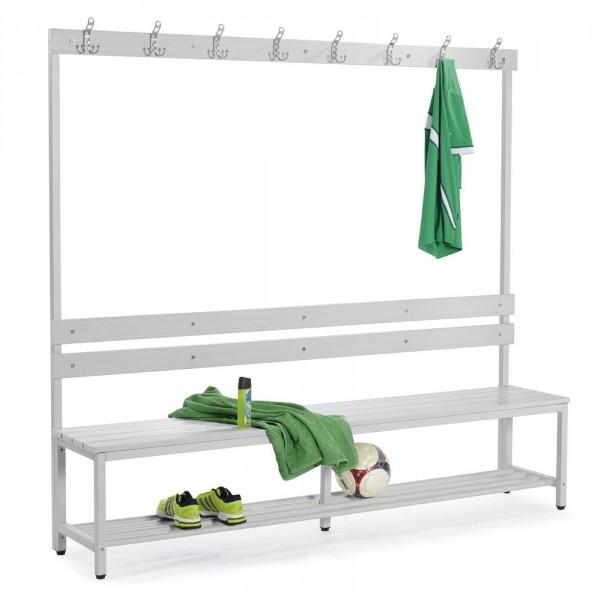 Sitzbank mit Kunststoffleisten 185x200x39,5 cm