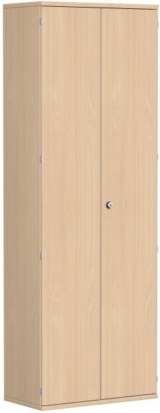 Garderobenschrank mit ausziehbarem Garderobenhalter, 80x42x230cm, Buche