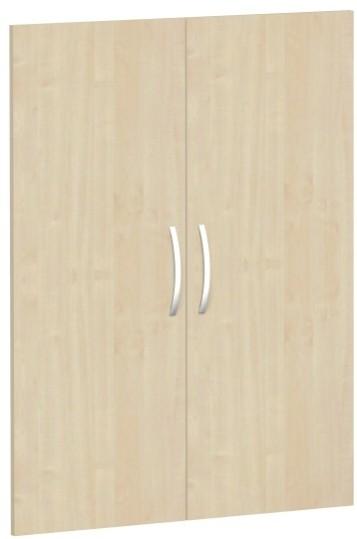 Flügeltürensatz für Korpusbreite 80 cm, 3 OH, Ahorn