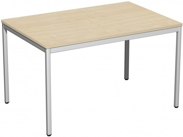 Konferenztisch Viereckfuß 120 x 80 cm