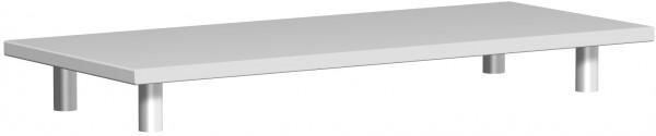 Aufsatzplatte, 100x42x11cm, Lichtgrau