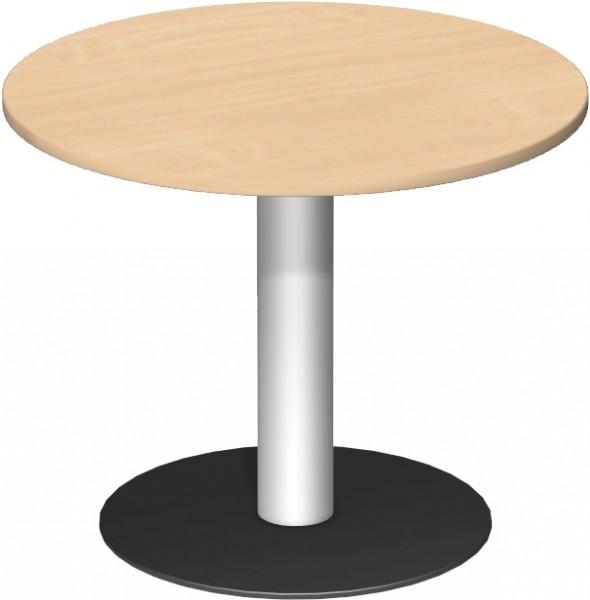 Konferenztisch Tellerfuß, Kreisform, Ø 90cm, Buche