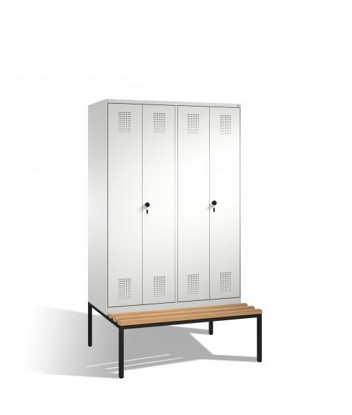Doppelspind Evolo mit Sitzbank, 4 Abteile, 209x120x50/81cm