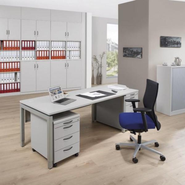 Schreibtisch 4-Fuß Comfort MULTI M 120 x 80 x 62-82 cm