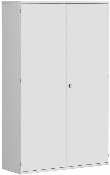 Garderobenschrank mit ausziehbarem Garderobenhalter, 120x42x192cm, Lichtgrau