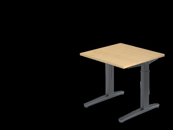 Schreibtisch C-Fuß 80 x 80 cm Ahorn / Graphit