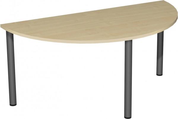 Konferenztisch Rundfuß Halbkreisform 160 x 80 cm