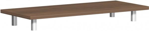 Aufsatzplatte, 100x42x11cm, Nussbaum