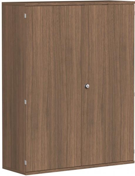 Garderobenschrank mit ausziehbarem Garderobenhalter, 120x42x154cm, Nussbaum