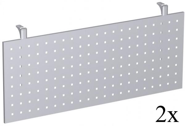 Knieraumblende für Fünfeck-Platte, Silber / gelocht