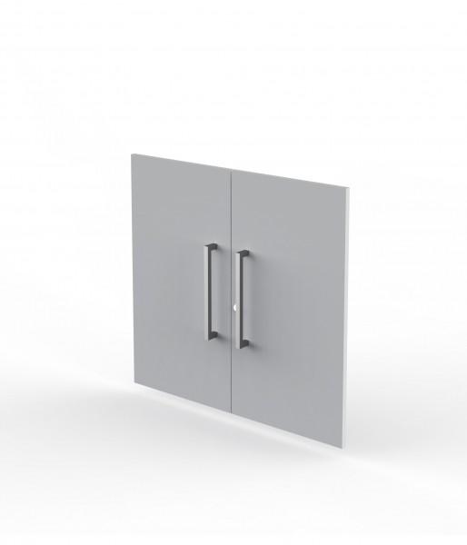 Vorbautüren Modus für 2 OH, lichtgrau, Holz