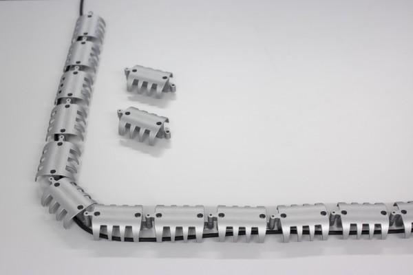 Kabelführung horizontal, Silber