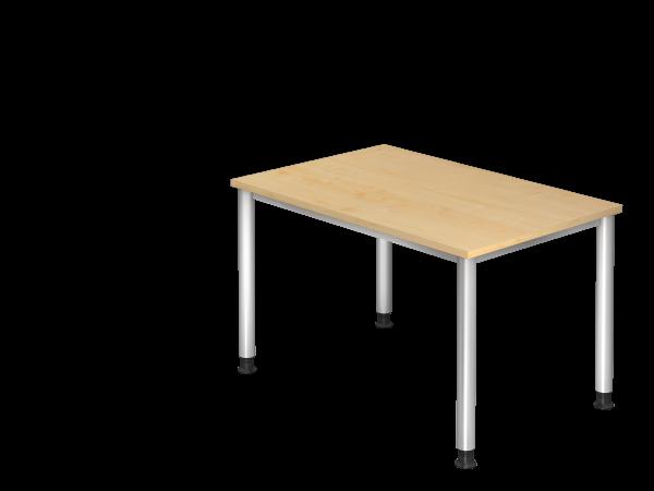 Schreibtisch 4-Fuß rund 120 x 80 cm