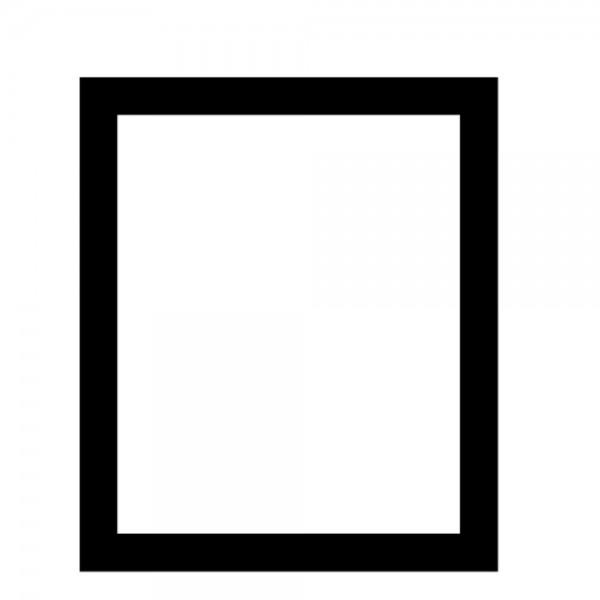 Bodenschutzmatte aus transparentem PET Form E, 120 x 180 cm