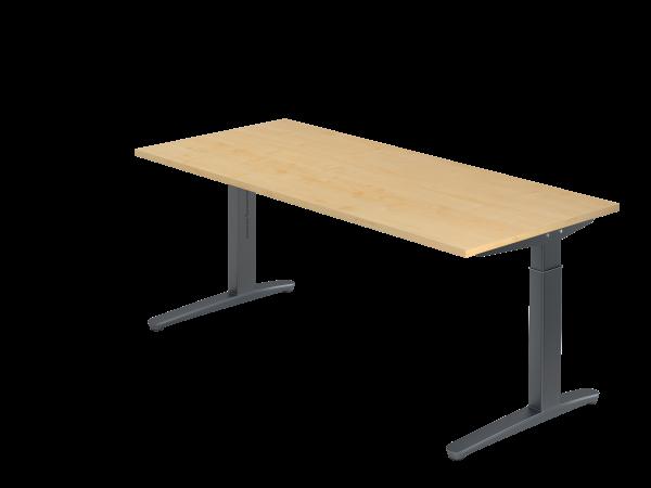 Schreibtisch C-Fuß 180 x 80 cm Ahorn / Graphit