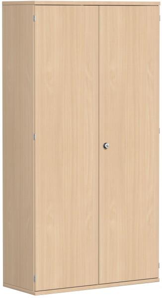 Garderobenschrank mit ausziehbarem Garderobenhalter, 100x42x192cm, Buche