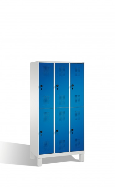 Doppelstockspind Evolo auf Füßen, 6 Fächer, 185x90x50cm