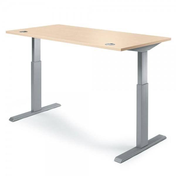 Sitz-/Stehschreibtisch MODUL 160x80x71,5-118,5 cm