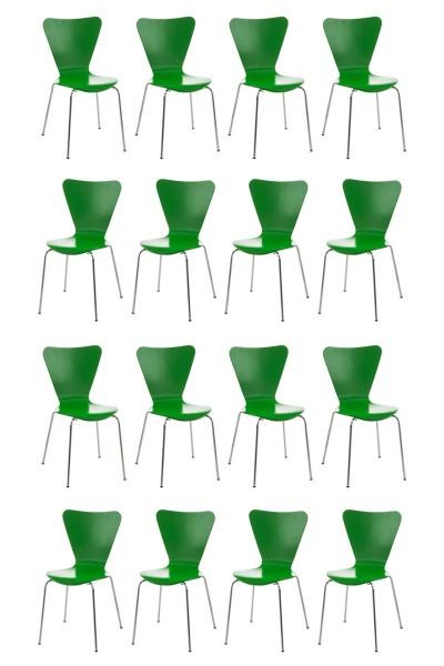 16er Set Besucherstuhl Calisto, grün