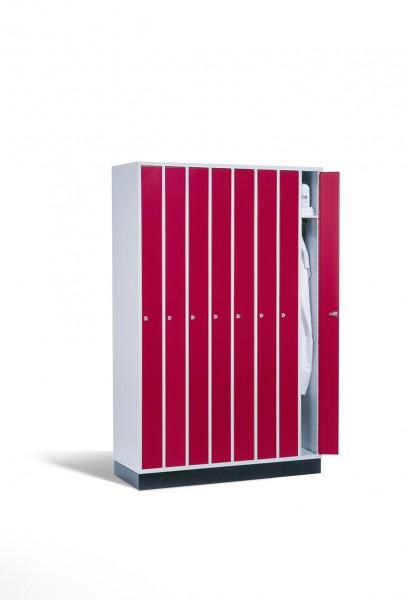 Raumspar-Umkleidespind Intro, 8 Abteile, 195x122x50cm