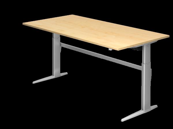 Sitz-Steh-Schreibtisch elektrisch höhenverstellbar 200 x 100 cm