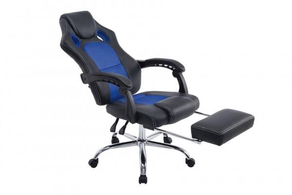 Bürostuhl Energy mit Fussablage, schwarz/blau