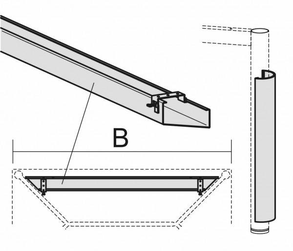 PC-Elektrifizierungs-Set für Schreibtische, 160cm, Silber