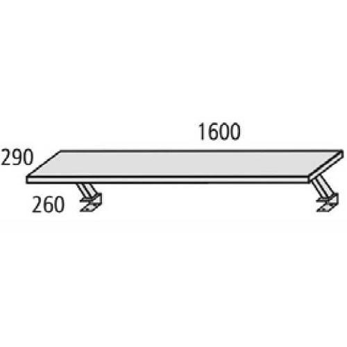 Zweite Ebene für Schreibtisch MULTI M, 160x29x25,5cm