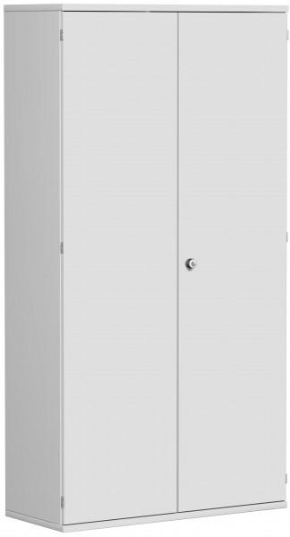 Garderobenschrank mit ausziehbarem Garderobenhalter, 100x42x192cm, Lichtgrau