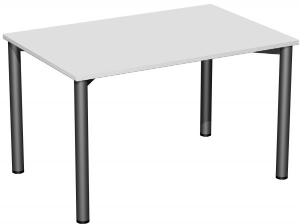 Konferenztisch 4 Fuß-Rundrohrgestell 120 x 80 x 72 cm