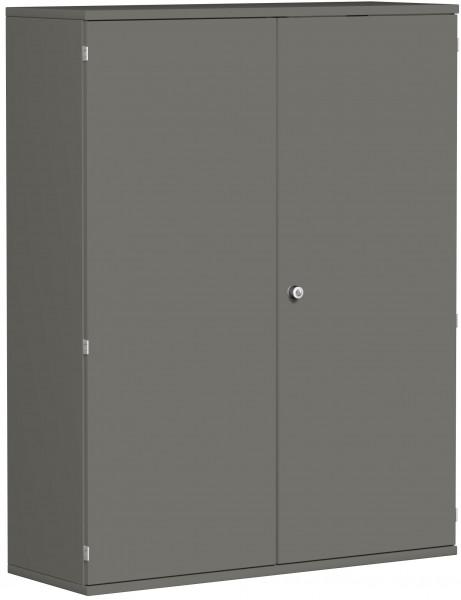 Garderobenschrank mit ausziehbarem Garderobenhalter, 120x42x154cm, Graphit