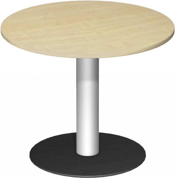 Konferenztisch Tellerfuß, Kreisform, Ø 90cm, Ahorn