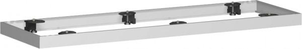 Metallsockel für Querrollladenschrank, 160x5cm, Silber