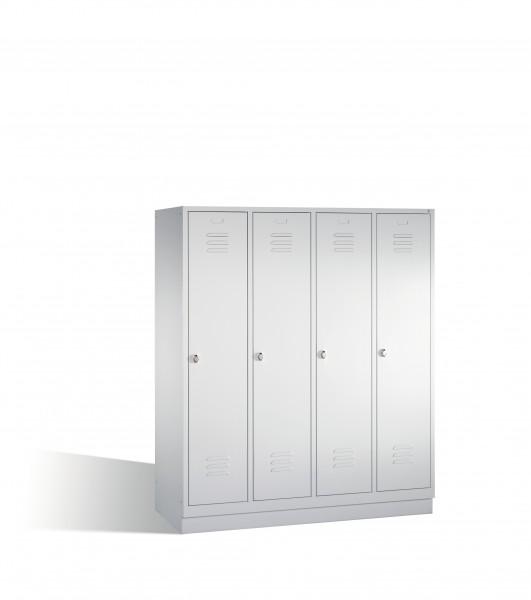Umkleidespind Classic auf Sockel, 4 Abteile, 180x159x50cm
