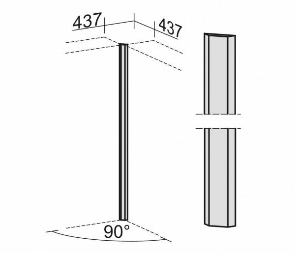 90° Eckverbinder für 6 OH, Lichtgrau