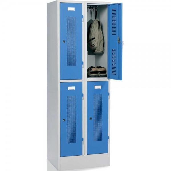 Garderoben-/Schließfachschrank SP1 2 x 2 Abteile, Drehriegelverschluss