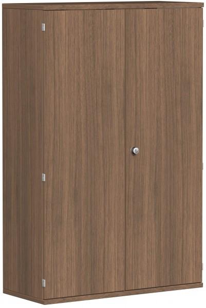 Garderobenschrank mit ausziehbarem Garderobenhalter, 100x42x154cm, Nussbaum
