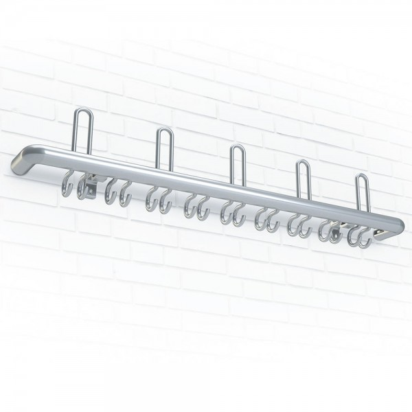 Wandgarderobe R Aluminium 100x21x11 cm