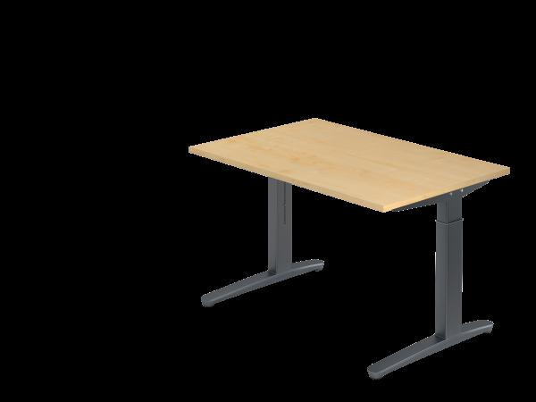 Schreibtisch C-Fuß 120 x 80 cm Ahorn / Graphit