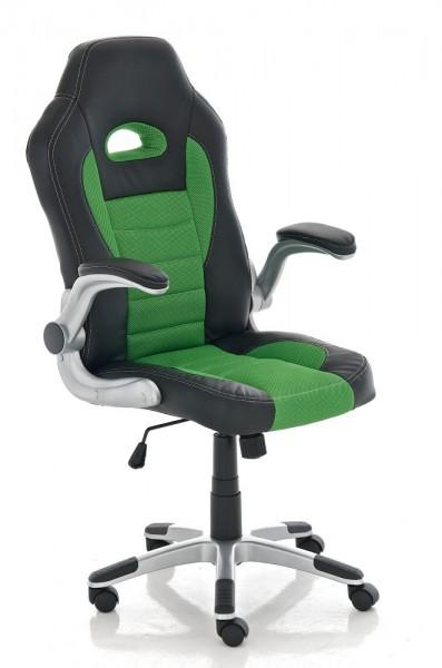Bürostuhl John, schwarz, grün