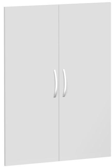 Flügeltürensatz für Korpusbreite 80 cm, 3 OH, Lichtgrau