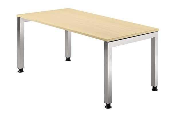 Schreibtisch U-Fuß eckig 160 x 80 cm