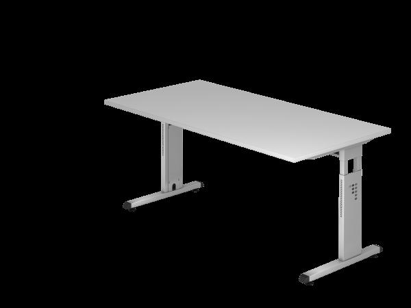 Schreibtisch MEGA 160 x 80 cm Grau / Silber
