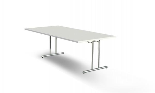 Schreibtisch Artline, 200x100x72cm, C-Fuß Gestell, Weiß