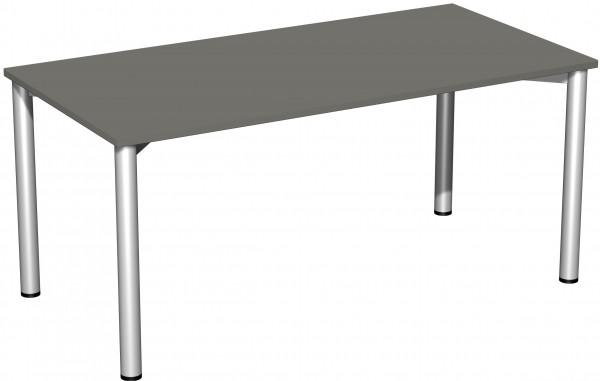 Konferenztisch 4 Fuß-Rundrohrgestell 160 x 80 x 72 cm