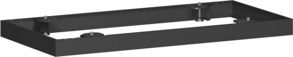 Metallsockel für Querrollladenschrank, 80x5cm, Schwarz