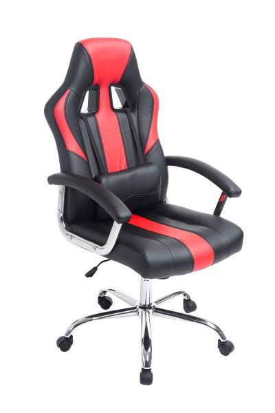 Bürostuhl Olymp, schwarz/rot