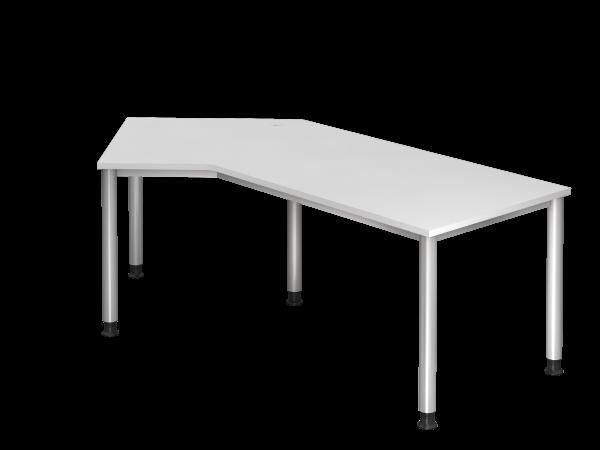 Winkeltisch 135° 5-Fuß rund 210 x 113 cm